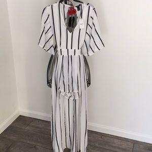 Rue 21 striped jumpsuit size M